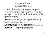 general fund sources of revenue