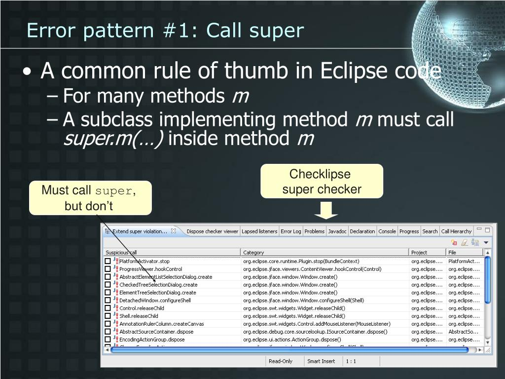 Error pattern #1: Call super