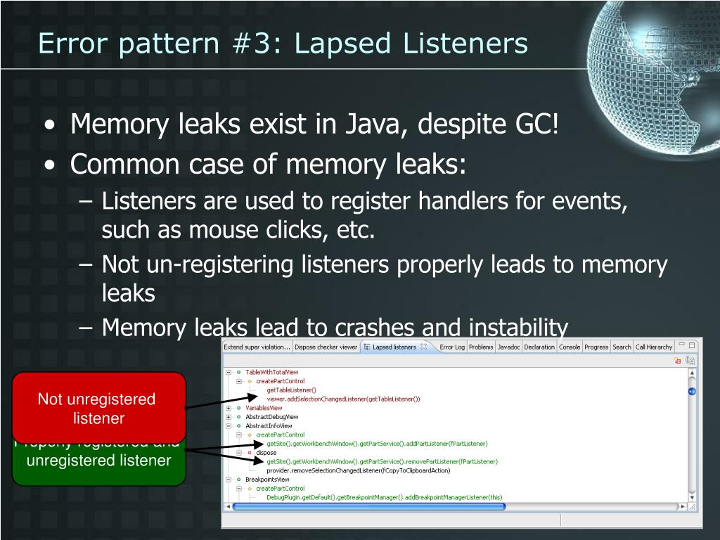 Error pattern #3: Lapsed Listeners