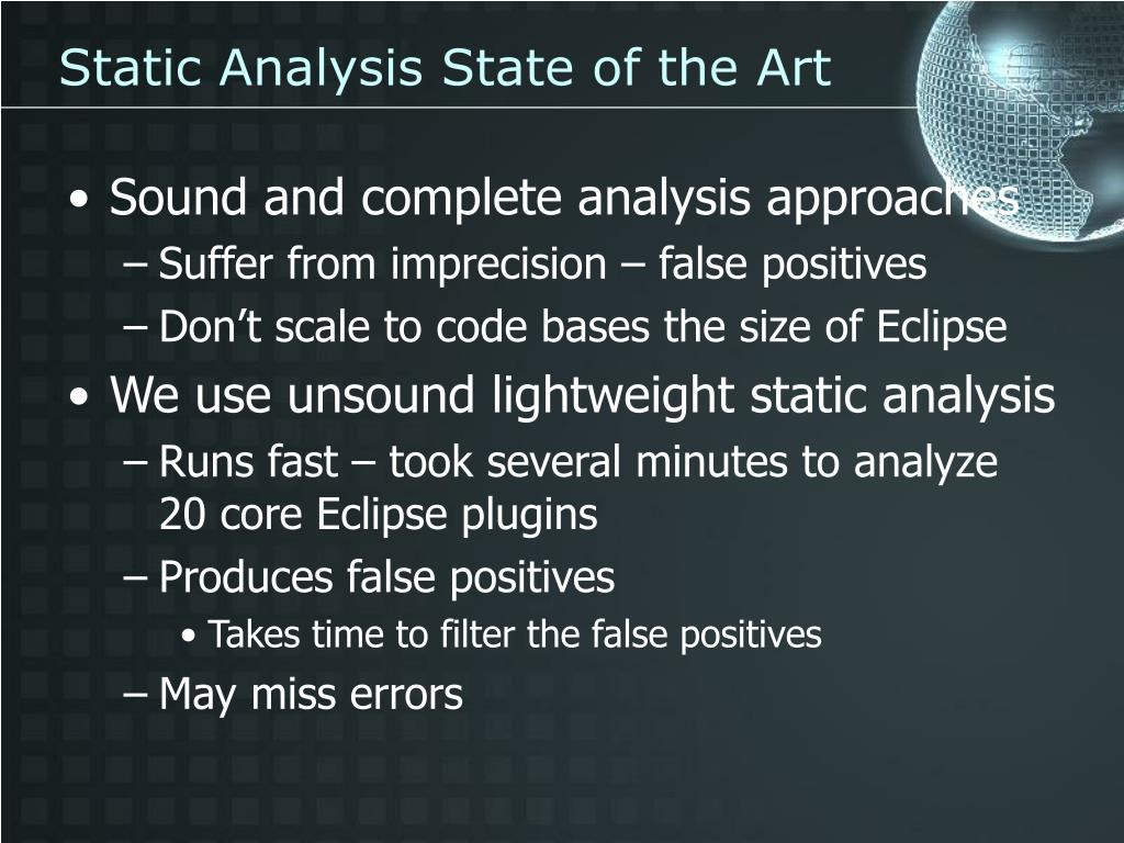 Static Analysis State of the Art