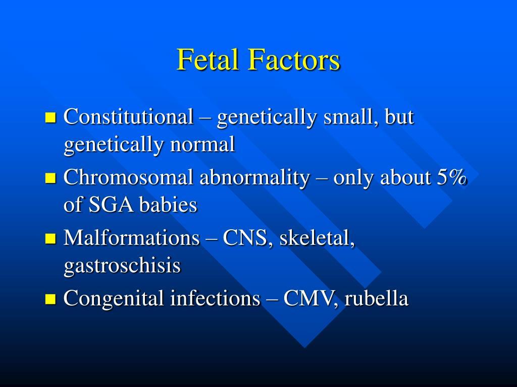 Fetal Factors