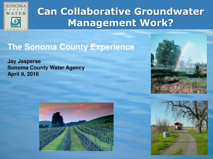Can collaborative groundwater management work