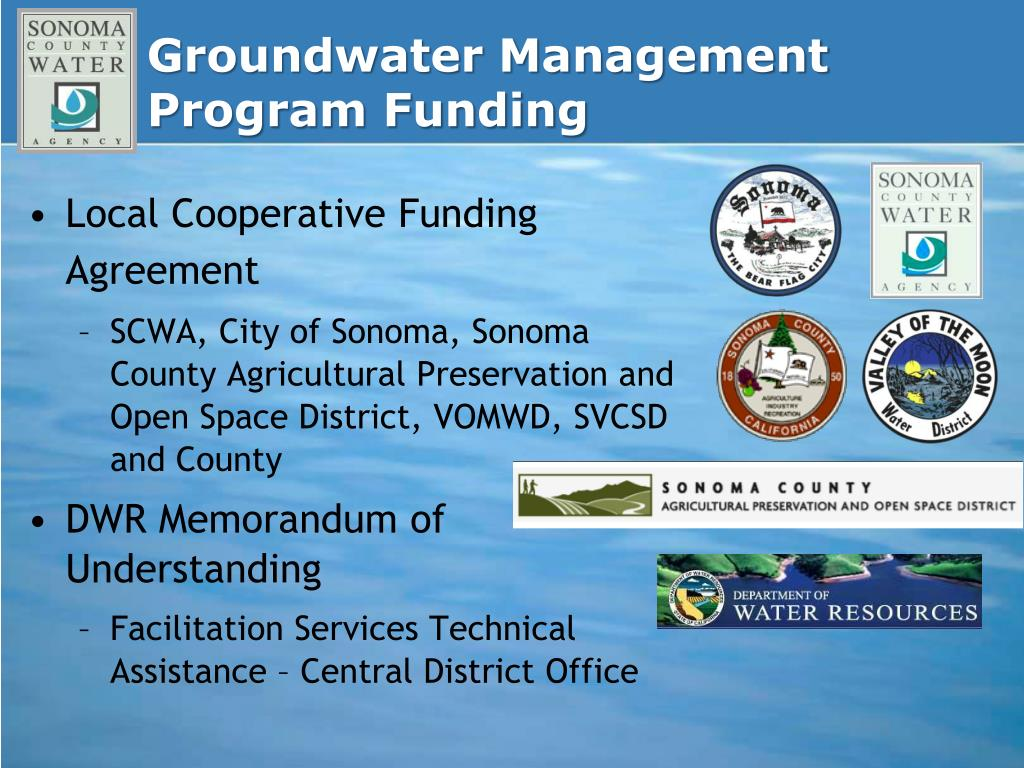 Groundwater Management Program Funding