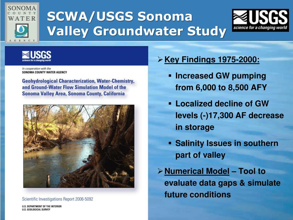 SCWA/USGS Sonoma