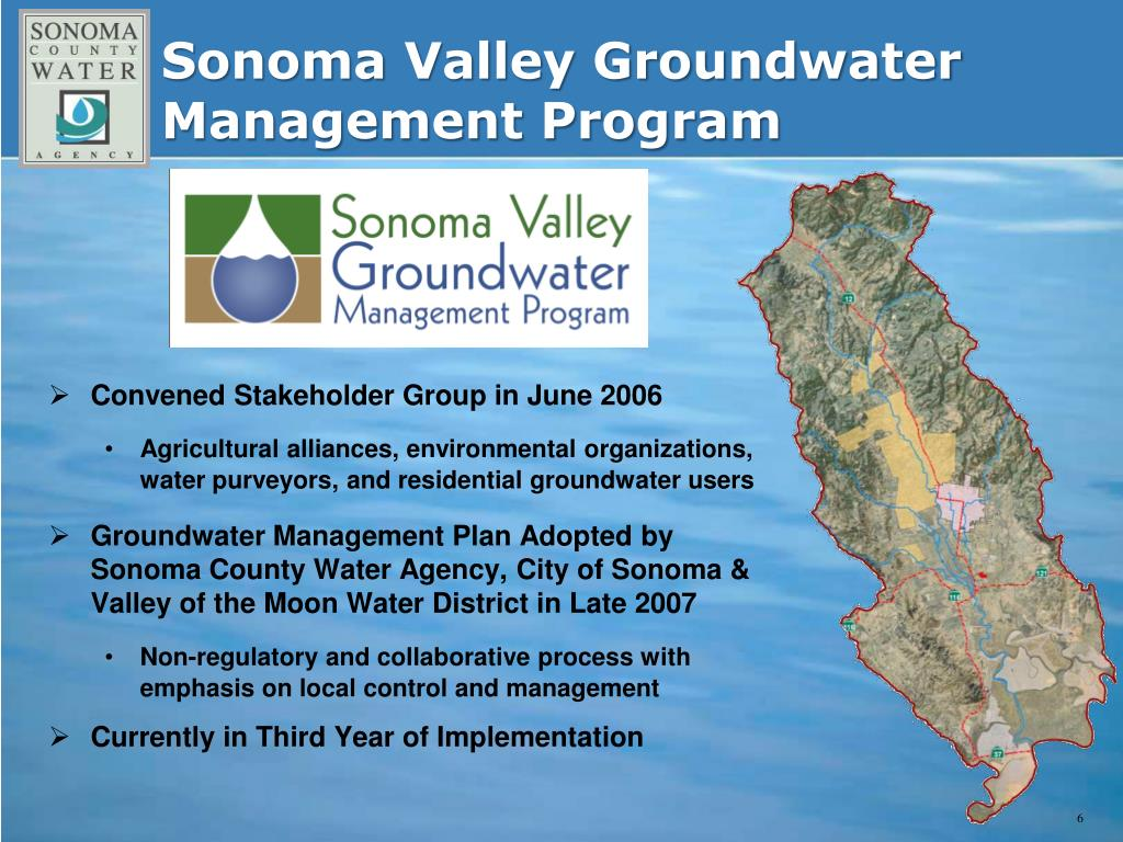 Sonoma Valley Groundwater Management Program