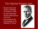 the ottoman empire cont