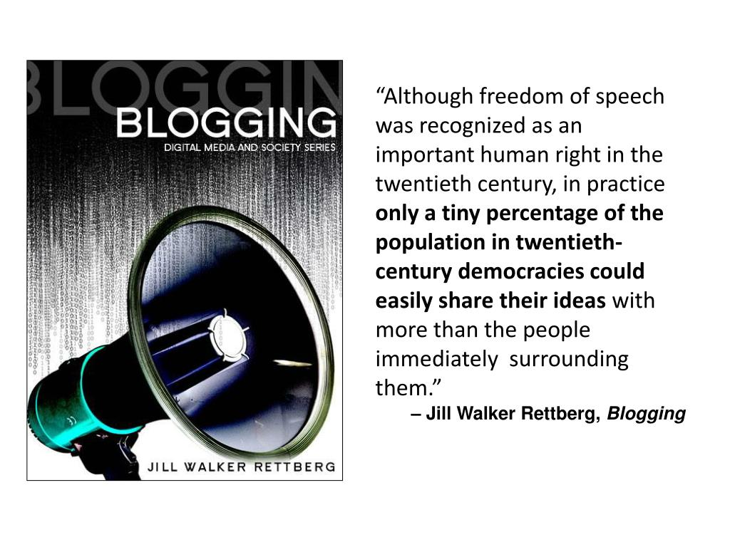 """""""Although freedom of speech was recognized as an important human right in the twentieth century, in practice"""