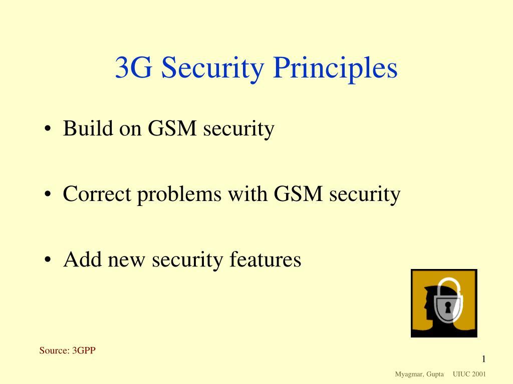 3G Security Principles