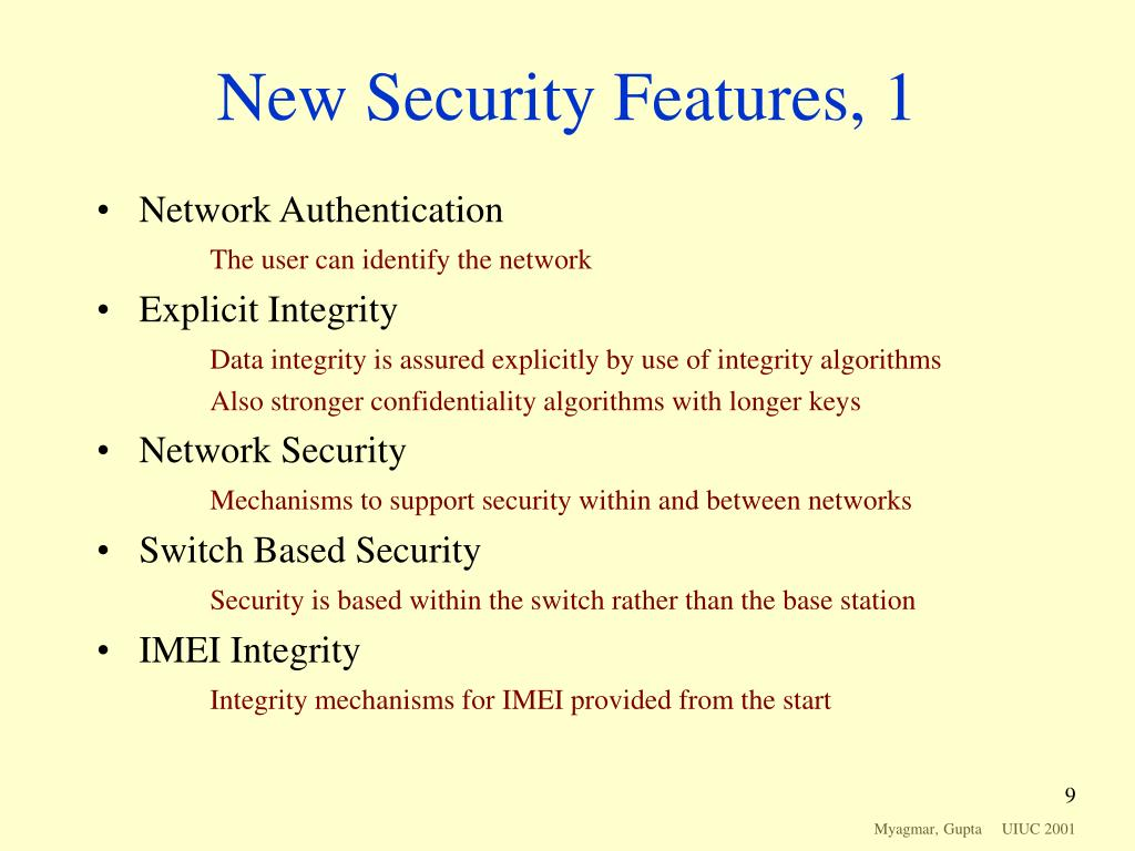New Security Features, 1