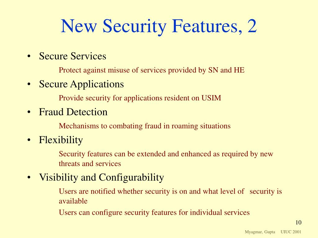 New Security Features, 2
