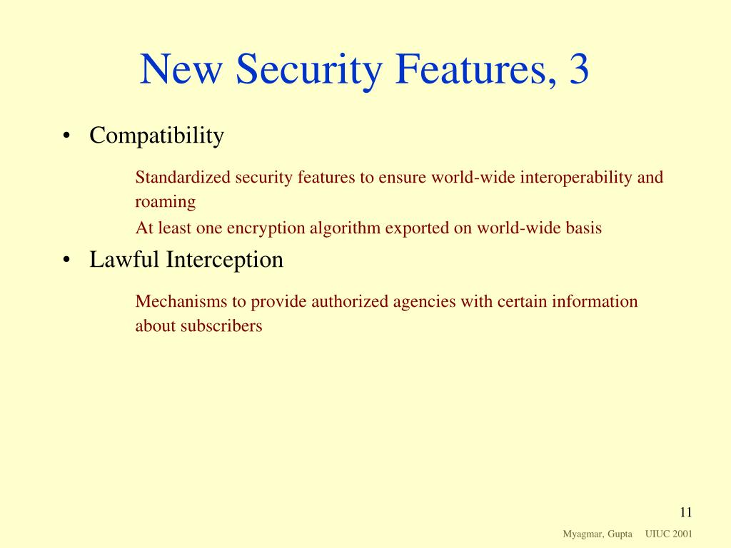 New Security Features, 3