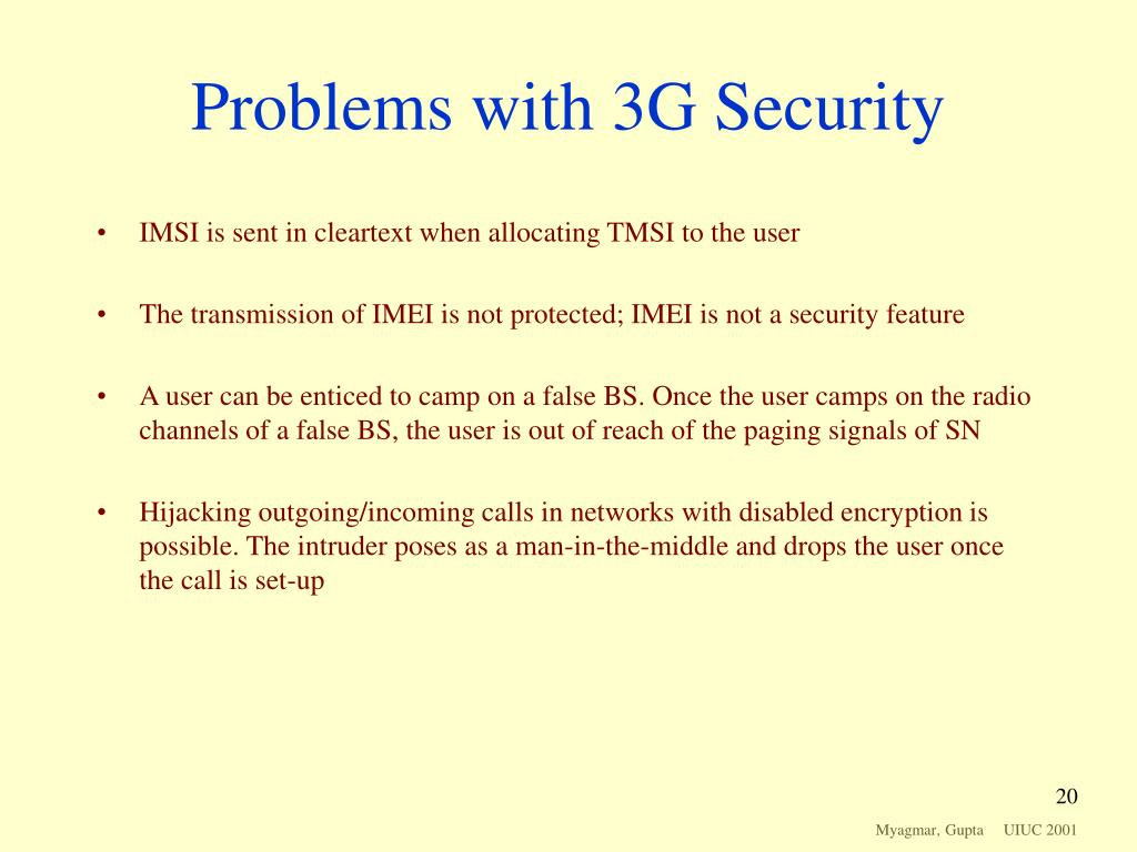 Problems with 3G Security