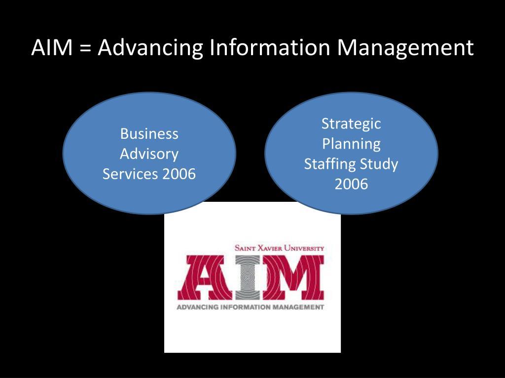 AIM = Advancing Information Management