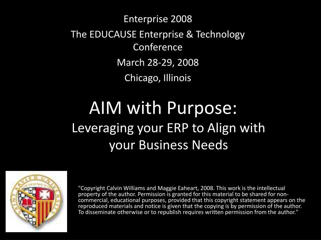 aim with purpose