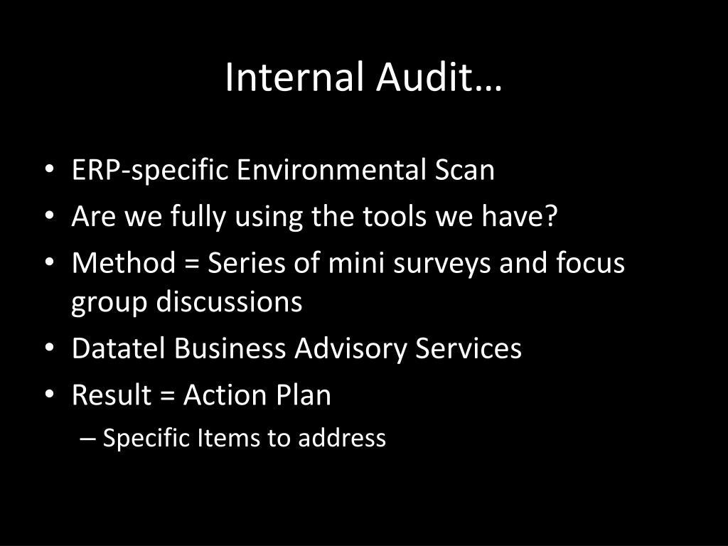 Internal Audit…