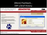 more flashback erp a brief history