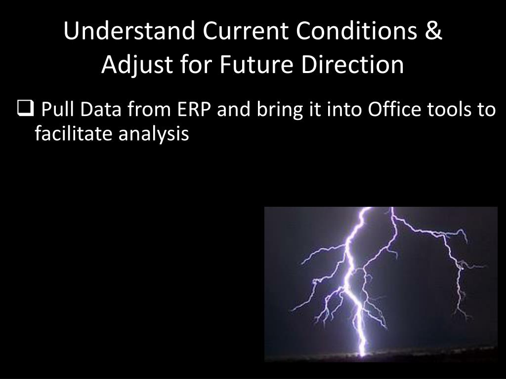 Understand Current Conditions & Adjust for Future Direction