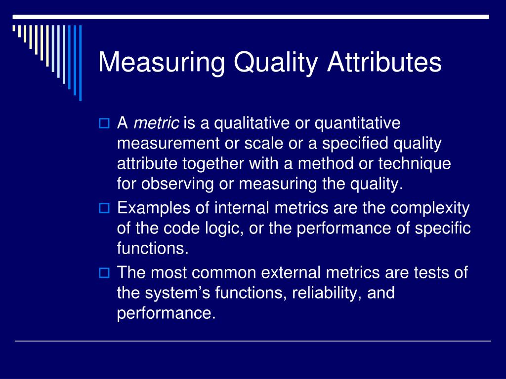 Measuring Quality Attributes