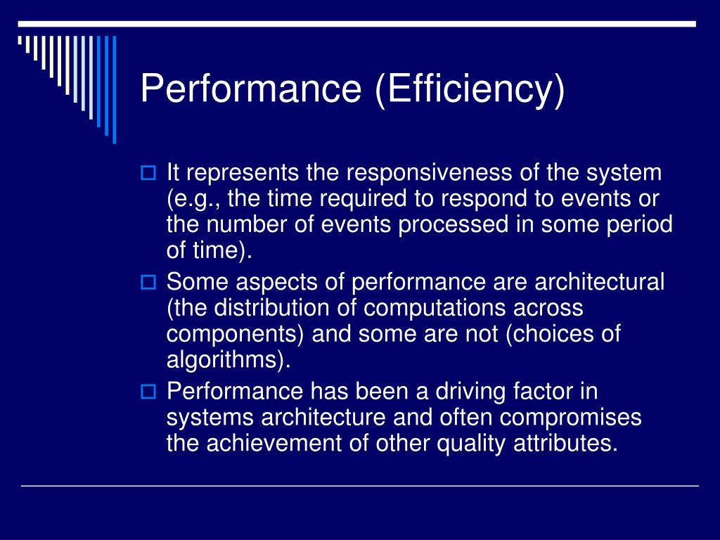 Performance (Efficiency)
