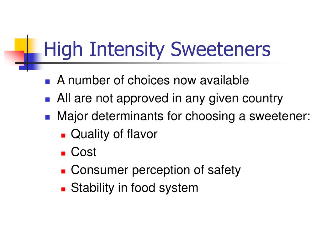 High Intensity Sweeteners