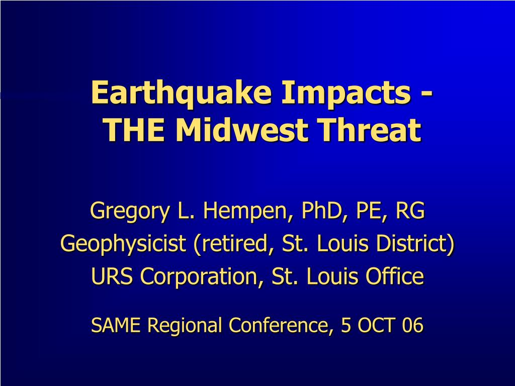 Earthquake Impacts -
