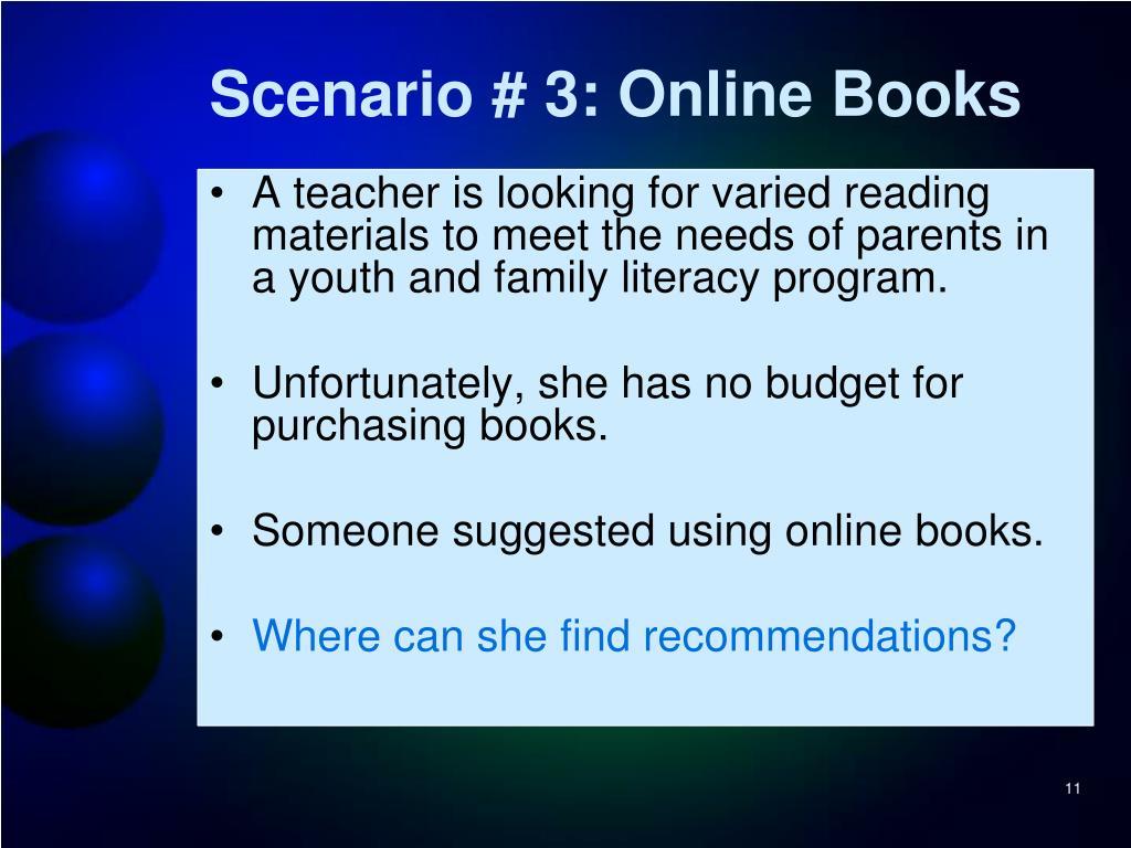 Scenario # 3: Online Books