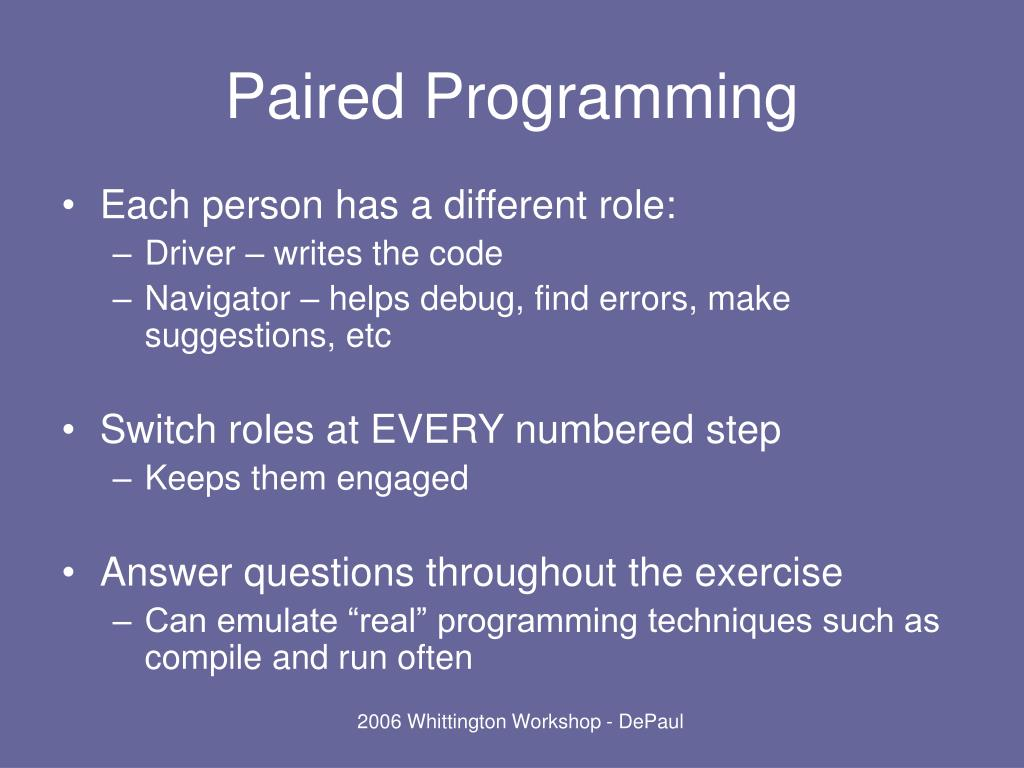 Paired Programming