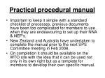 practical procedural manual