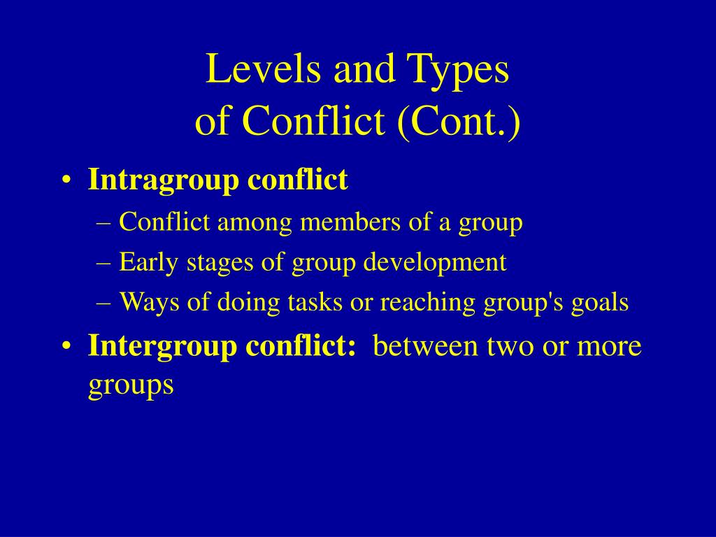 intragroup conflict and interpersonal conflict Intragroup conflict occurs among individuals within a team interpersonal conflict means a conflict between two individuals basically.