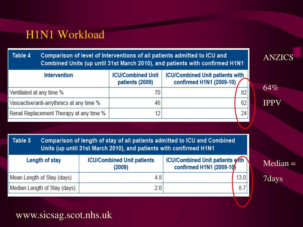 H1N1 Workload
