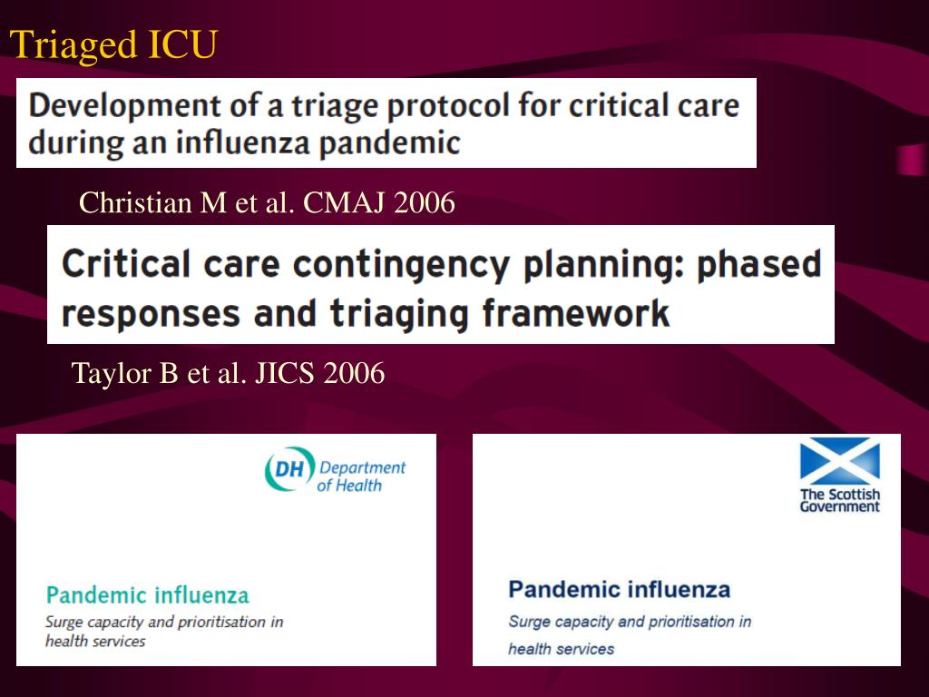 Triaged ICU