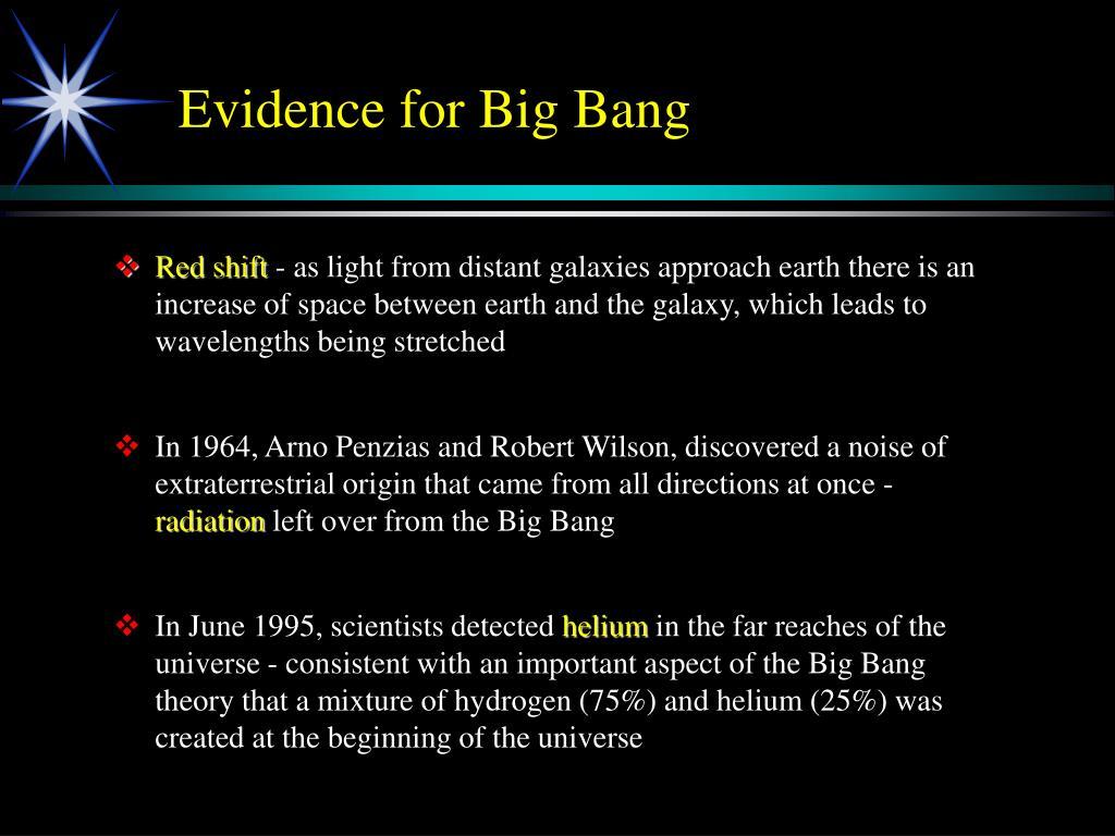 Evidence for Big Bang