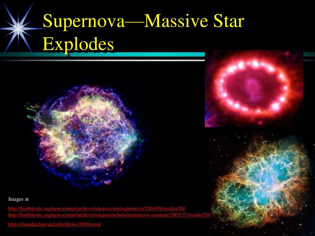 Supernova—Massive Star Explodes