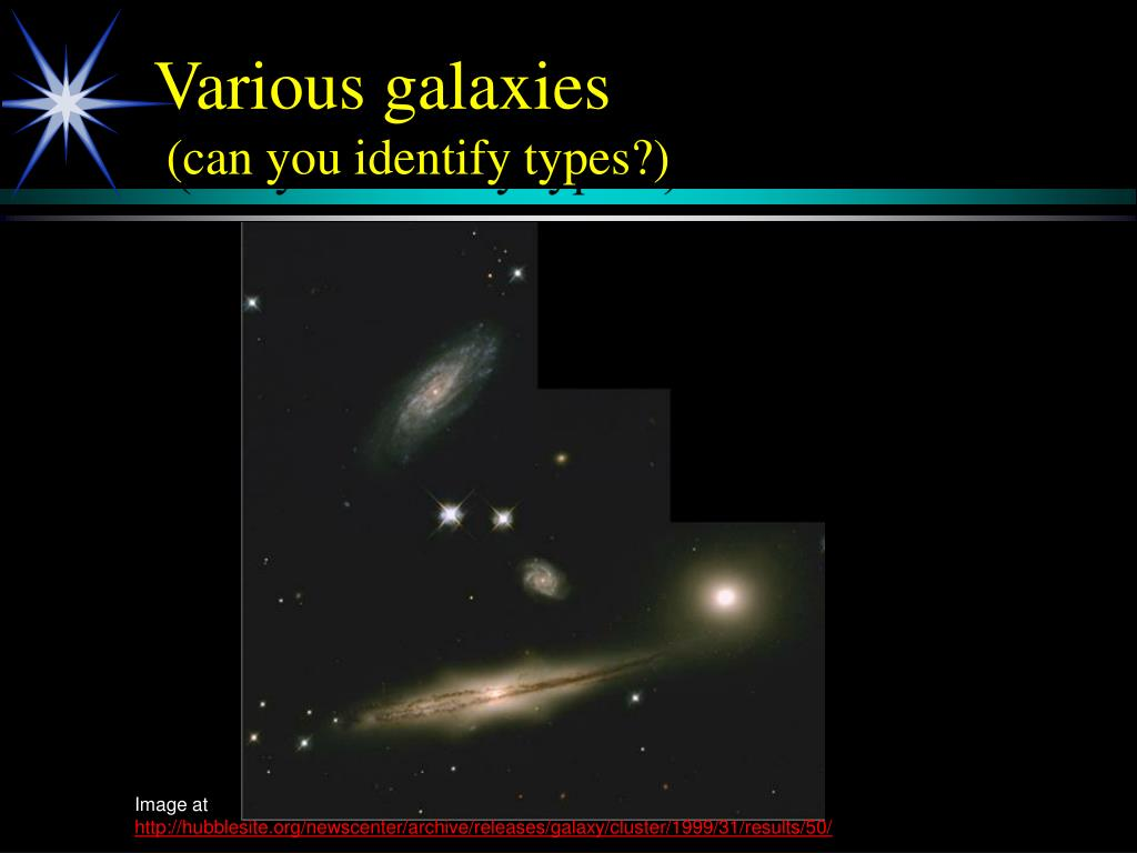 Various galaxies