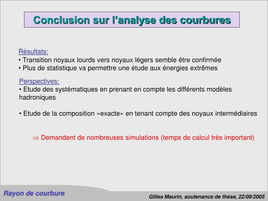 Conclusion sur l'analyse des courbures