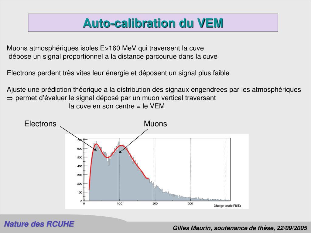 Auto-calibration du VEM