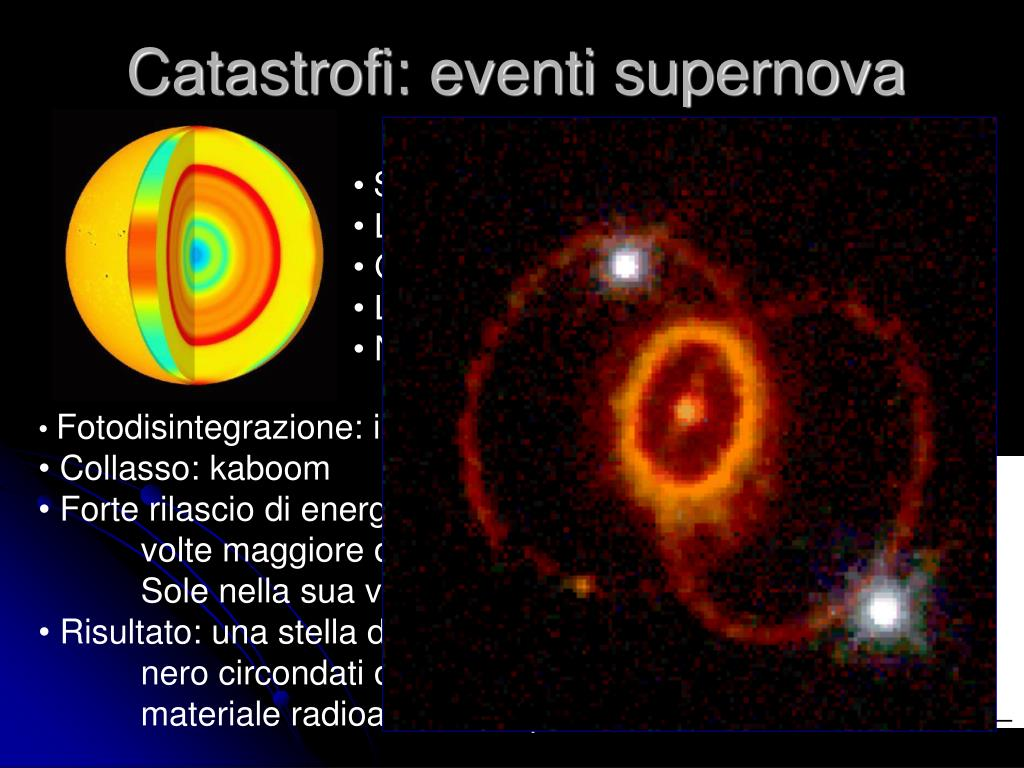 Catastrofi: eventi supernova