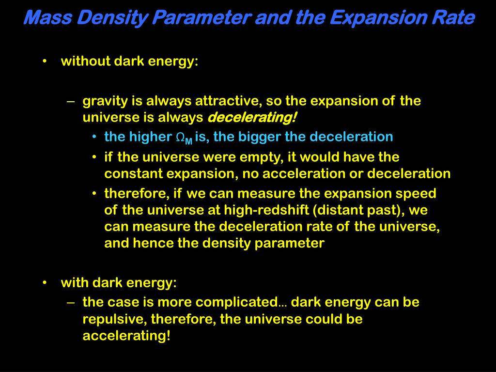 Mass Density Parameter and the Expansion Rate