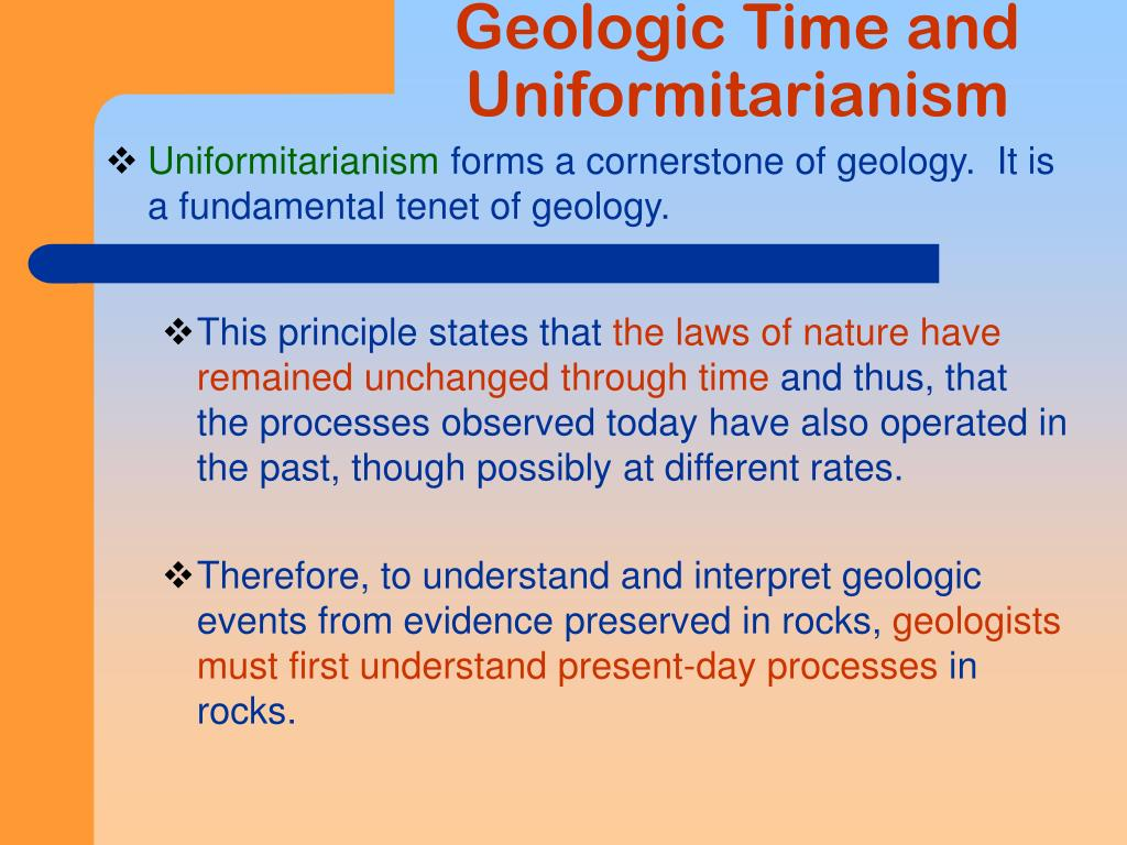 Geologic Time and Uniformitarianism