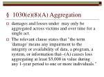 1030 e 8 a aggregation