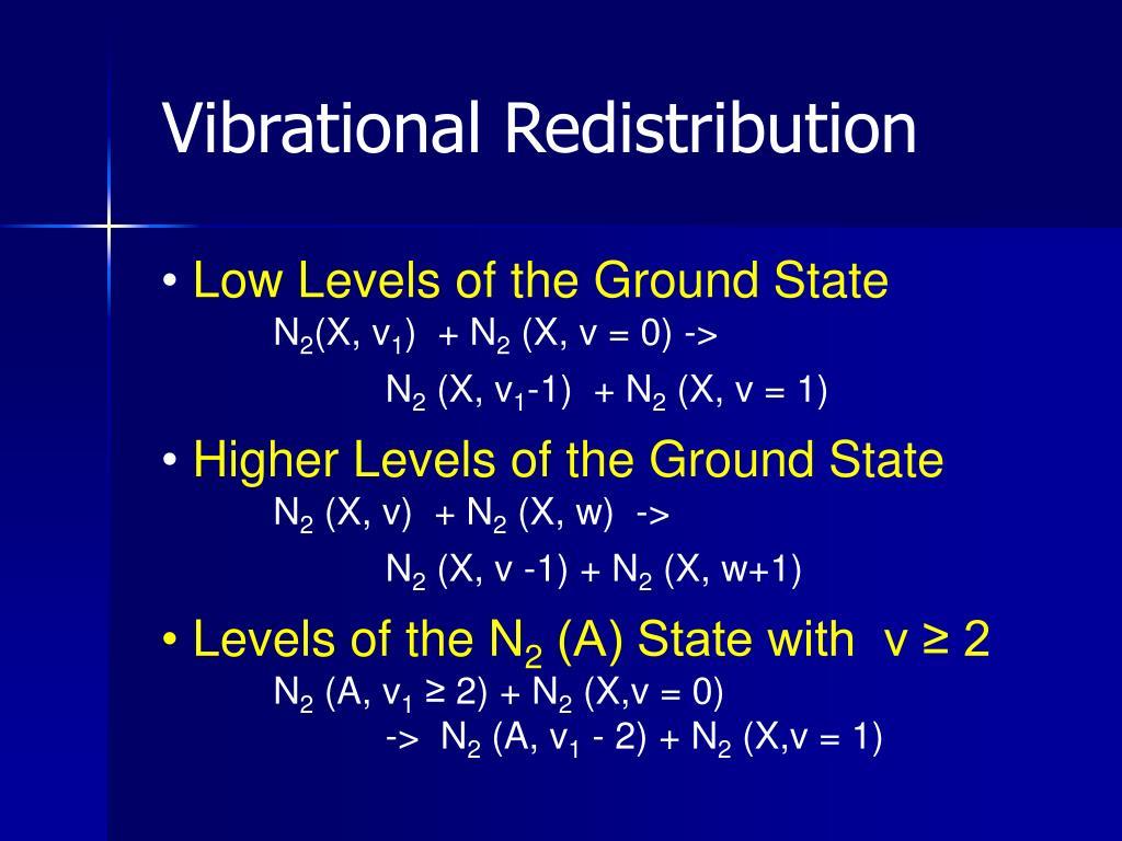 Vibrational Redistribution