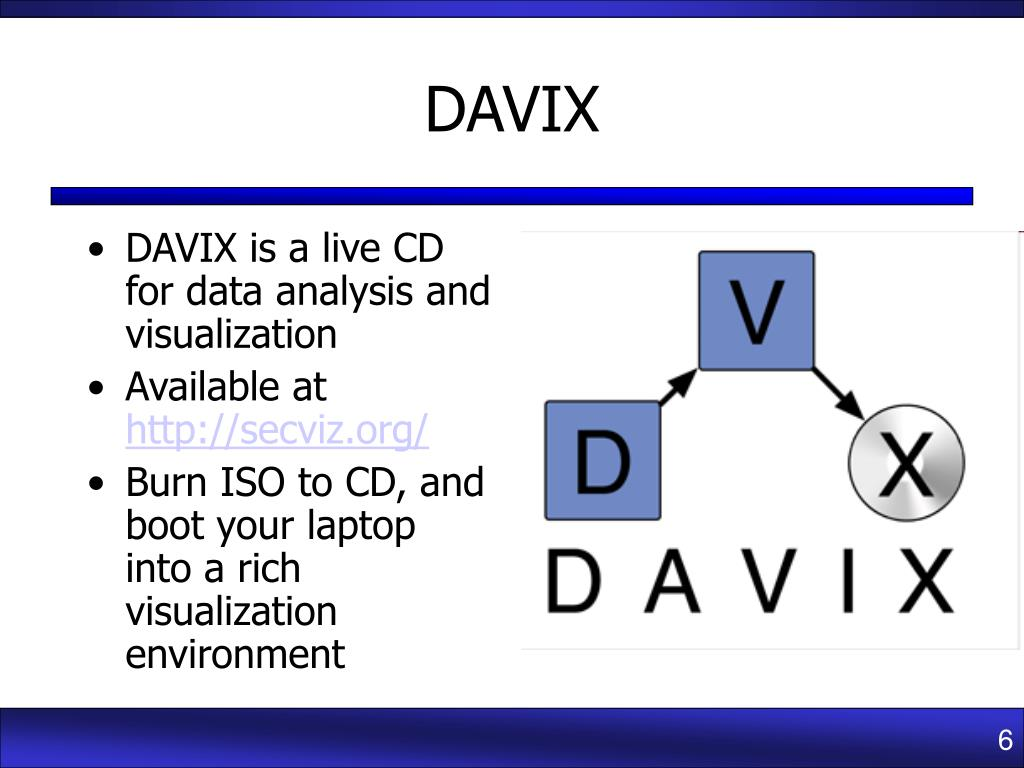 DAVIX is a live CD for data analysis and visualization