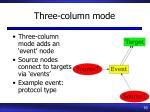 three column mode