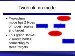 two column mode