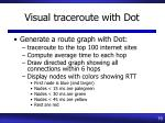 visual traceroute with dot