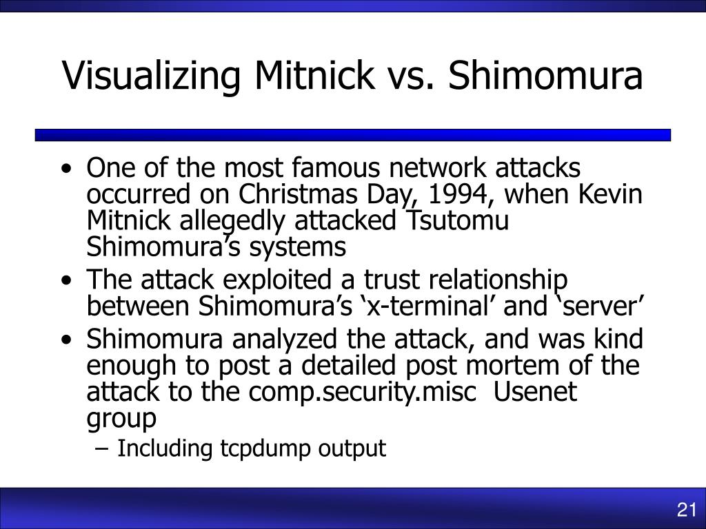 Visualizing Mitnick vs. Shimomura