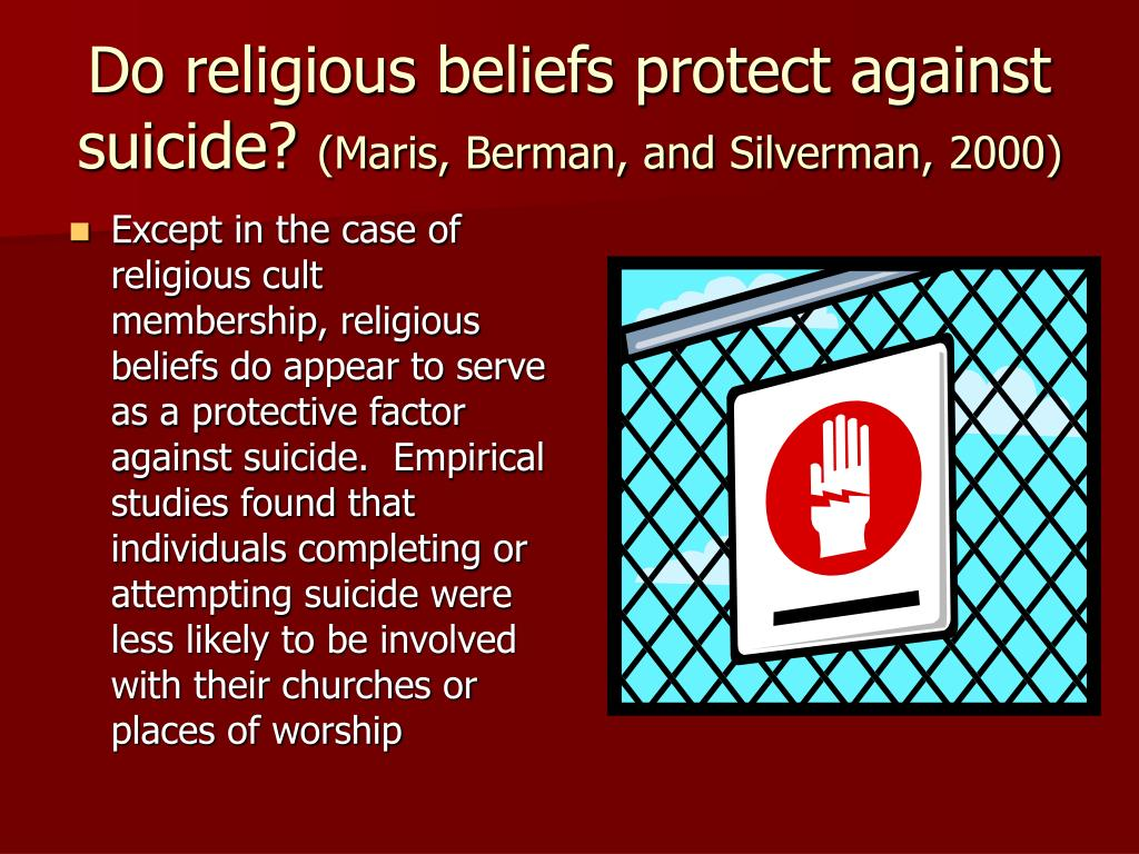 Do religious beliefs protect against suicide?