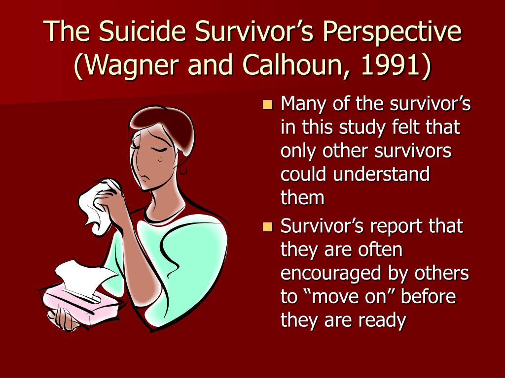 The Suicide Survivor's Perspective (Wagner and Calhoun, 1991)