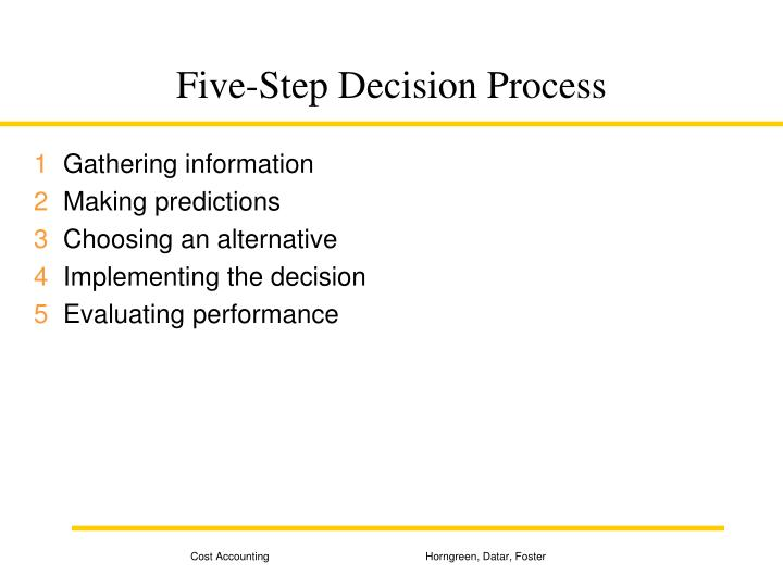 Five step decision process