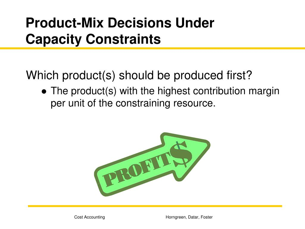 Product-Mix Decisions Under Capacity Constraints